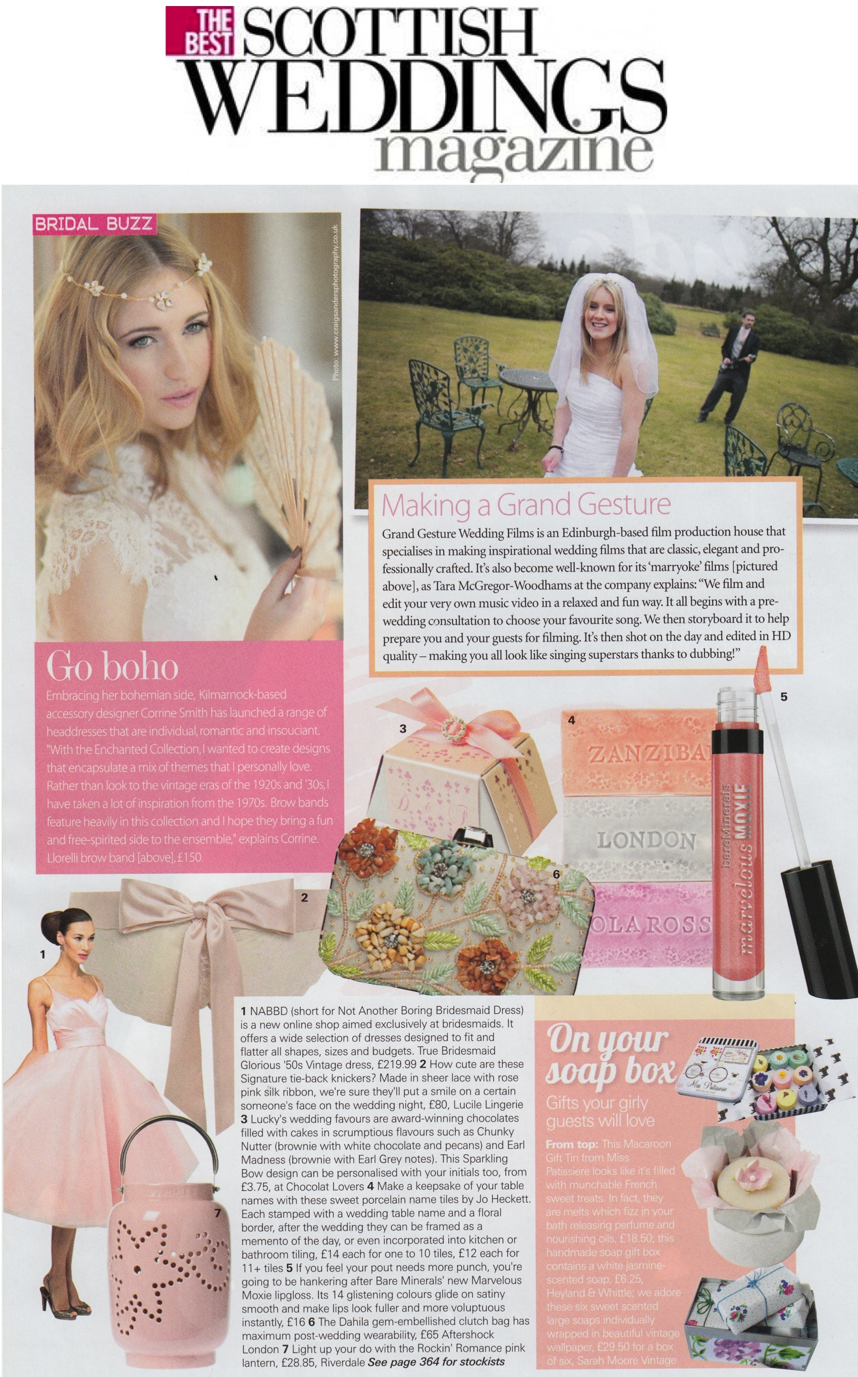 The Best Scottish Weddings - Lucile - Summer Issue