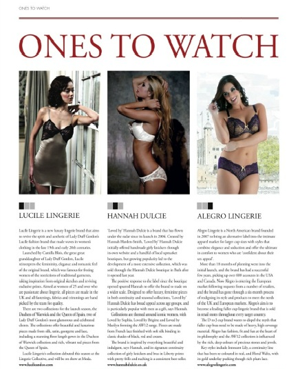 Lingerie Buyer Ones to Watch - Lucile