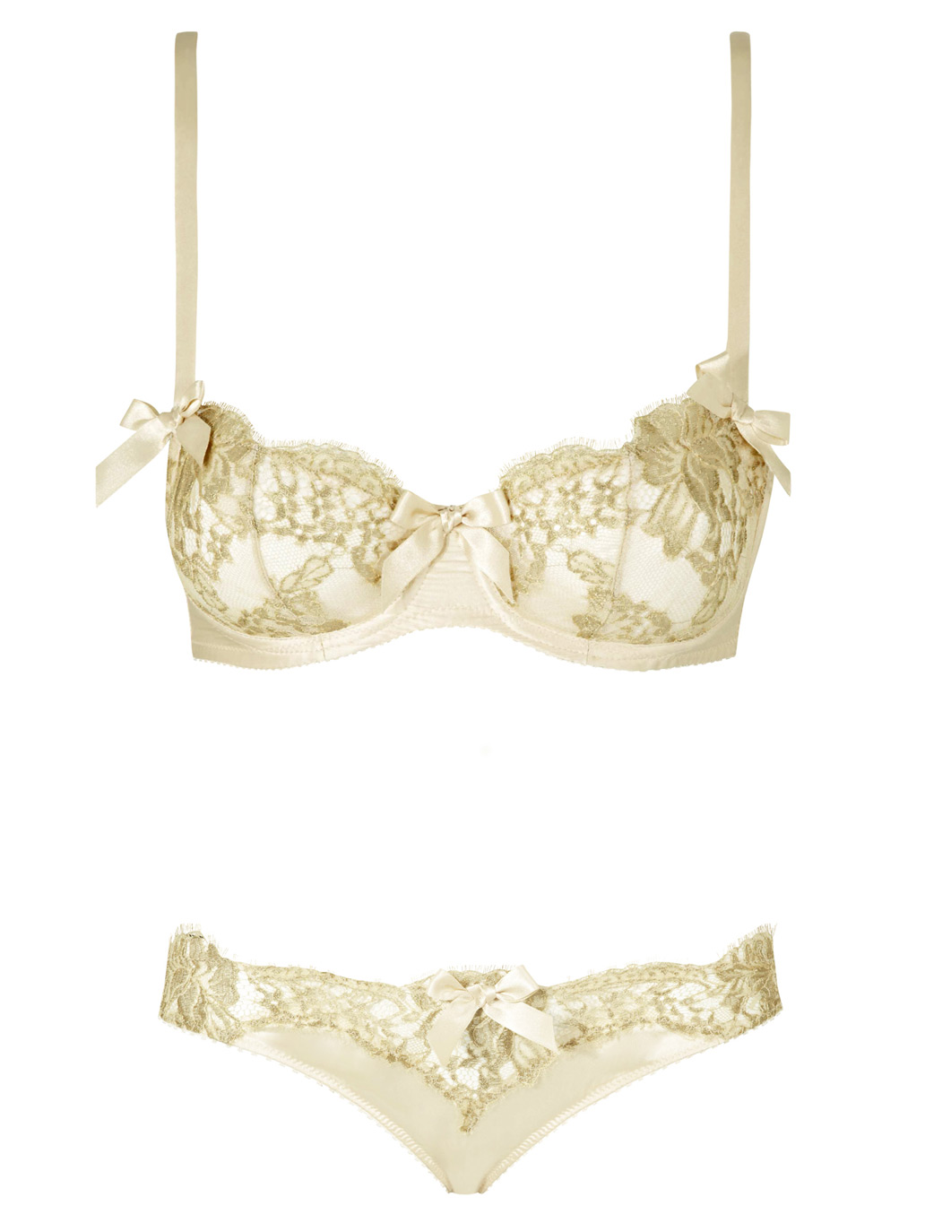 11 Rue De Penthievre Lace Balcony Bra and Knicker Set 47fbaaf2a