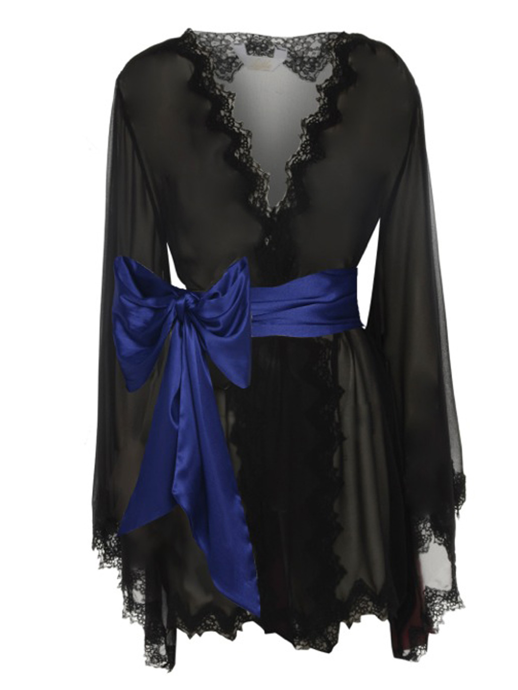 c51e7ef38cd7 Luxury Black Kimono Silk Gown - Odalisque